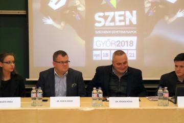 Széchenyi Egyetemi Napok 2018 sajtótájékoztató 01