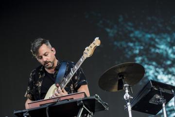 A brit Bonobo (Simon Green) zenész, dj-producer koncertje (Sóki Tamás fotója)
