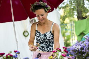 Virágkötő workshop (Mohai Balázs fotója)