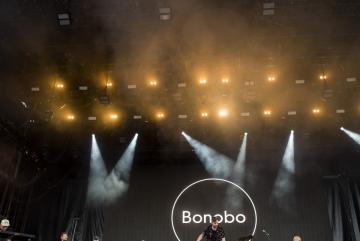 A brit Bonobo (Simon Green) zenész, dj-producer (k) koncertje (Sóki Tamás fotója)