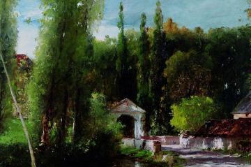 Munkácsy Mihály: A colpachi park bejárata