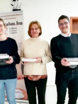 1. helyezett: Horváth Eszter, Tantalics Péter és Pákovics Enikő
