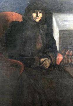 Rippl-Rónai József: Lazarine a kandalló előtt