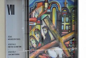 Csurák Erzsébet: Jézus másodszor esik el (festmény)