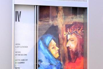 Csizmadia István: Anyám, eljött az én órám (festmény)