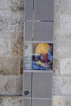 Babos Ágnes: Jézus holttestét sírba helyezik (festmény)
