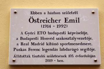Östreicher Emil emléktábla avatás 01
