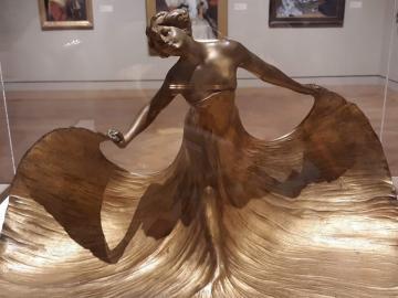 Art deco bronz szobor