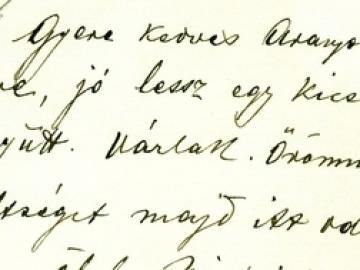 Jászai Mari kézírásos meghívó levelei Laczkó Arankához