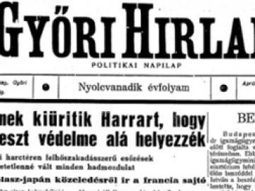 Megjelent a Győri Hírlap (1886-1939) első száma