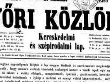 Megjelent a Győri Közlöny (1857-1896) első száma