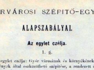 Január 28. – A Győrvárosi Szépítő-Egylet megalakulása